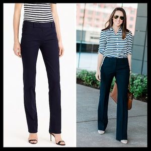 j. crew // campbell trousers black dress pants
